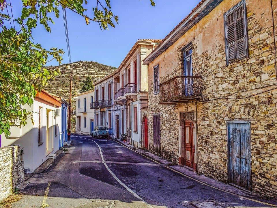 Architecture, Street, Buildings, Cyprus, Kato Drys