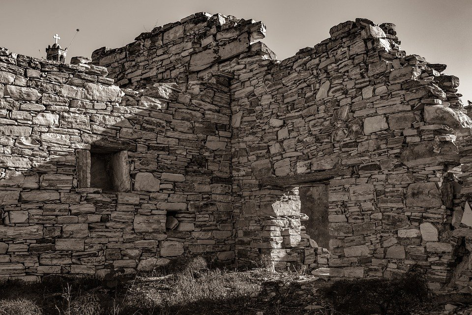 Architecture, Old, Stone, Building, Wall, Damaged