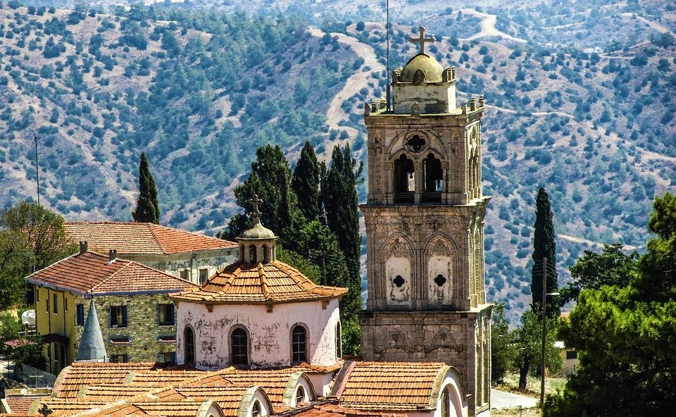 Cyprus, Lefkara, Village, Traditional, Troodos, Church