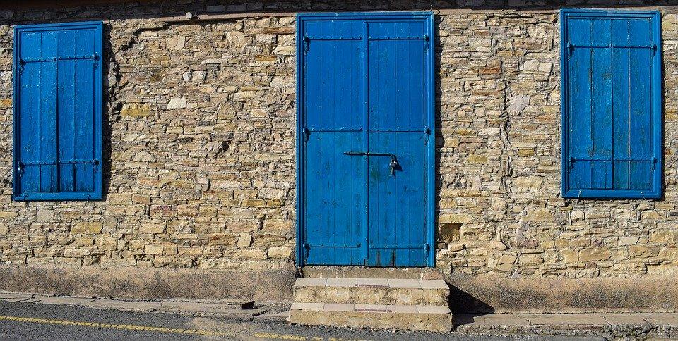 Cyprus, Kato Drys, Village, House, Wall, Door, Windows