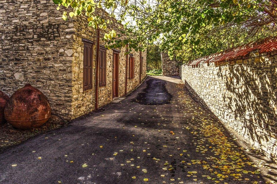 Cyprus, Kato Drys, Village, Architecture, Street