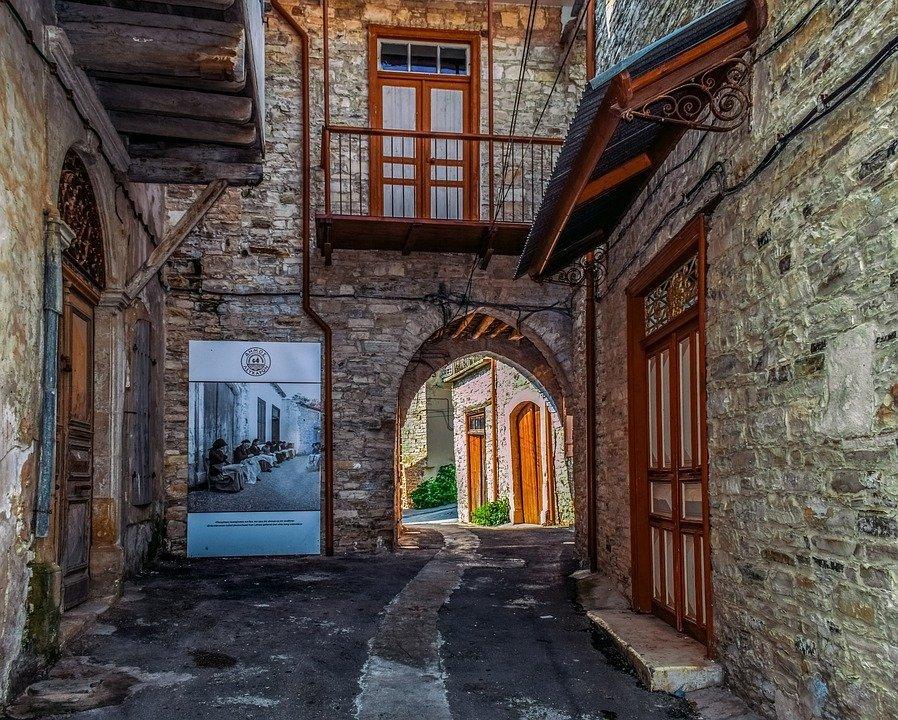 Cyprus, Pano Lefkara, Architecture, Village