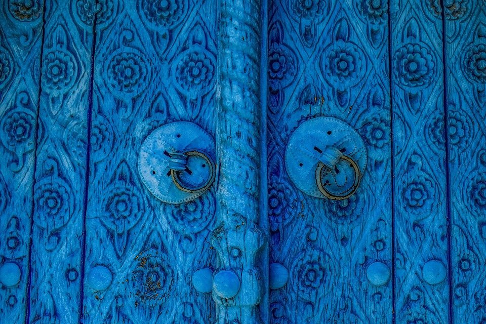 Door, Wooden, Blue, Architecture, Traditional, House