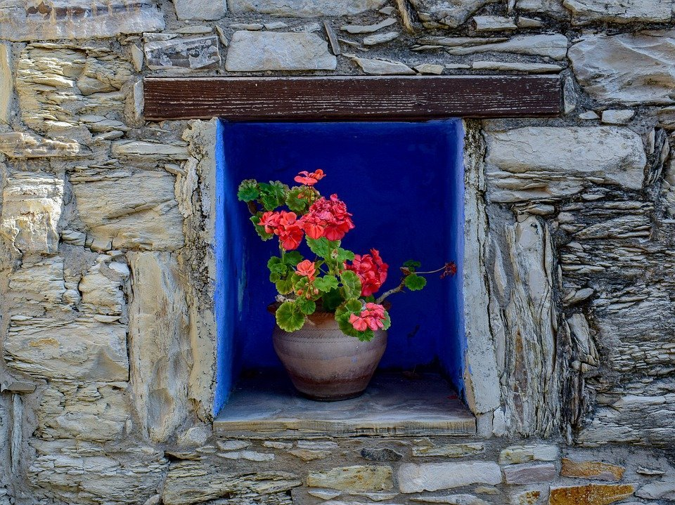 Flower Pot, Decoration, Wall, Decorative, Architecture