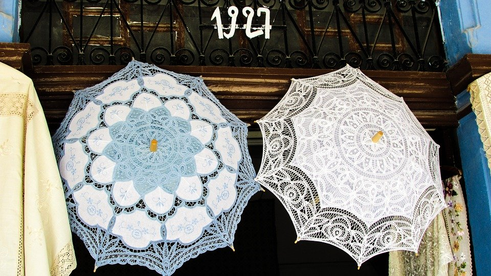Handiwork, Embroidery, Needlework, Lace, Umbrellas