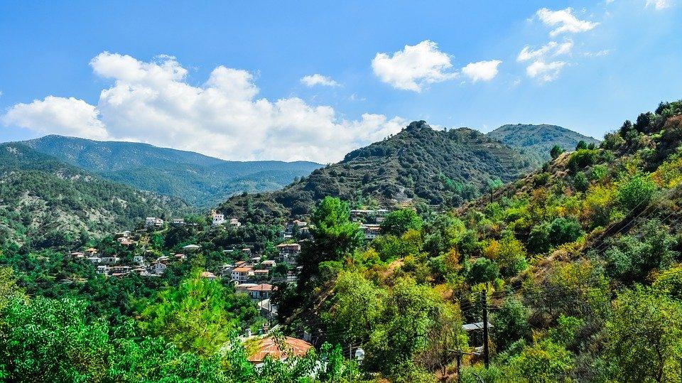 Mountain, Troodos, Landscape, Village, Nature