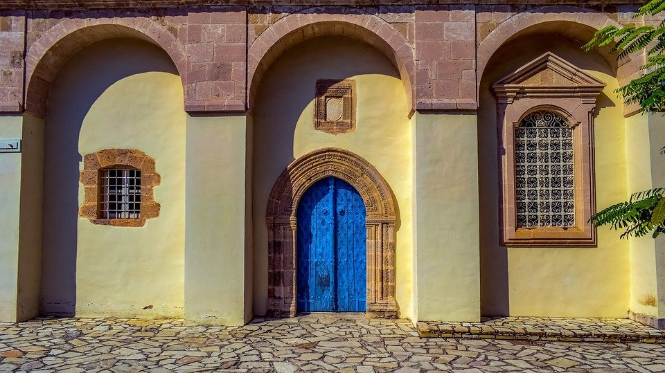 Wall, Door, Church, Architecture, Religion, Building